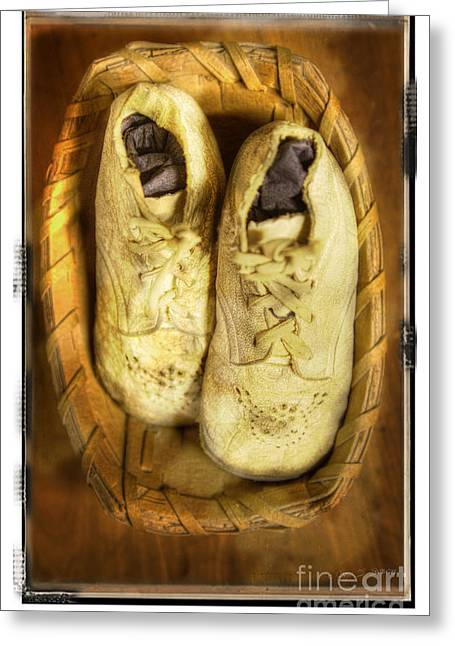 Baby White Shoes Greeting Card by Craig J Satterlee