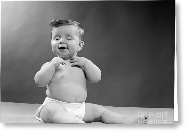 Baby With Vain Expression, 1950s Greeting Card by H. Armstrong Roberts/ClassicStock