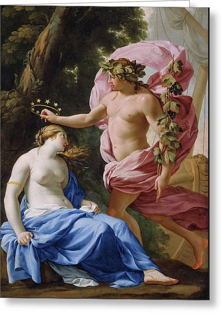 Bacchus And Ariadne Greeting Card
