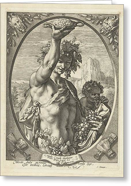 Bacchus God Of Ectasy Greeting Card by R Muirhead Art
