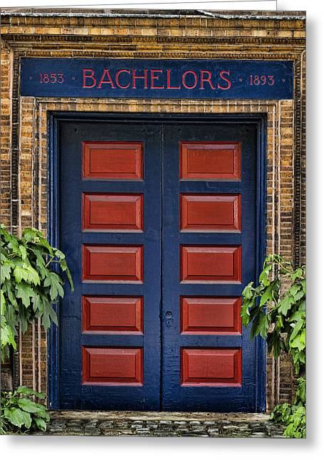 Bachelors Barge Club Greeting Card by Stephen Stookey