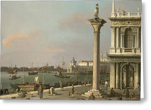 Bacino Di S. Marco - From The Piazzetta Greeting Card by Canaletto