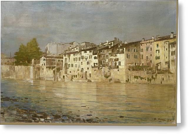 Bacio Di Sole A Verona Greeting Card by Bartolomeo Bezzi