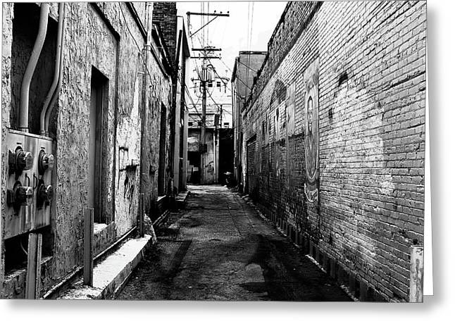 Back Alley Greeting Card by David Lee Thompson