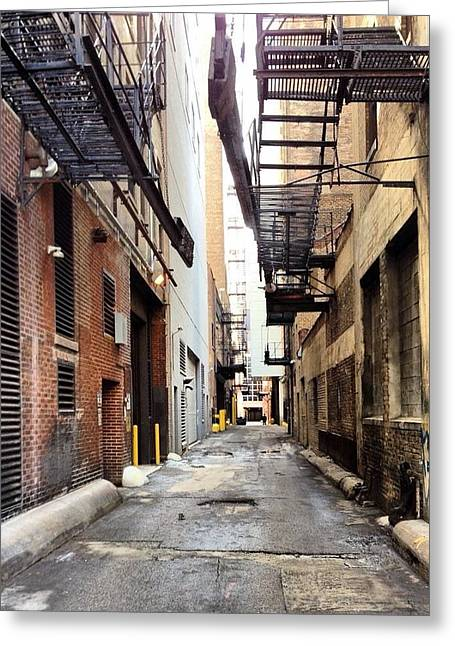 Back Alley Greeting Card by 2141 Photography