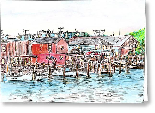 Back Bay, Atlantic City, Nj Greeting Card