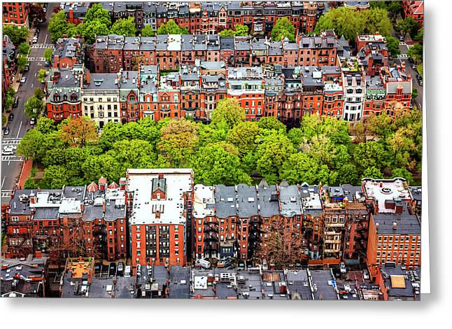 Back Bay Boston  Greeting Card by Carol Japp