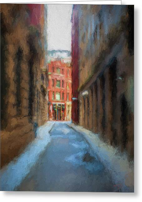 Back Bay Boston Greeting Card