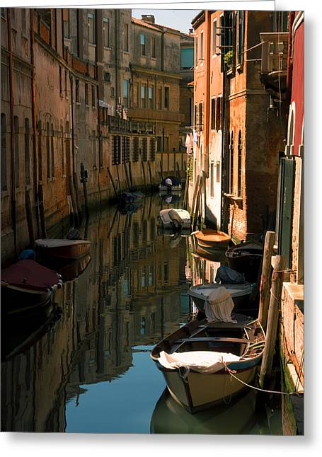 Back Canal In Venice Greeting Card by Michael Henderson