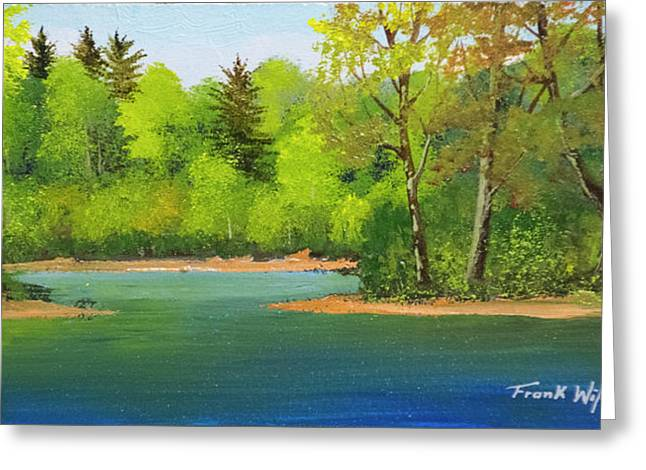 Back Country Pond Greeting Card by Frank Wilson