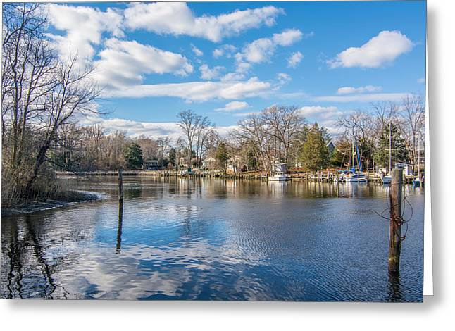 Back Creek Annapolis Md Greeting Card