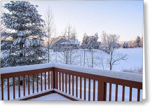 Morning Sun Winter Light Greeting Card