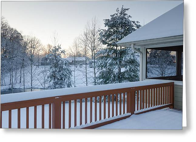 Winter Deck Greeting Card