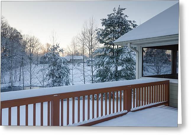 Winter Deck Greeting Card