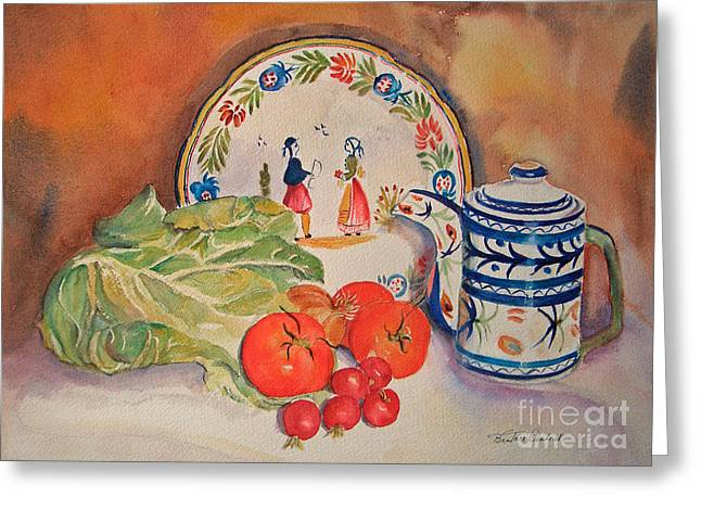 Back From Market Greeting Card by Beatrice Cloake