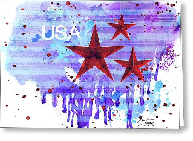Back In The Usa Greeting Card by Colleen Taylor