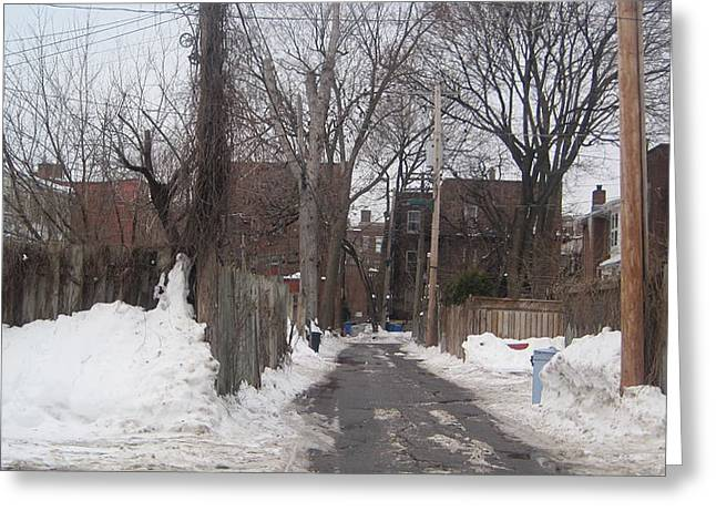 Greeting Card featuring the photograph Back Lanes by Michael Litvack