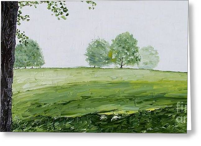 Back Nine Greeting Card by Kevin Croitz