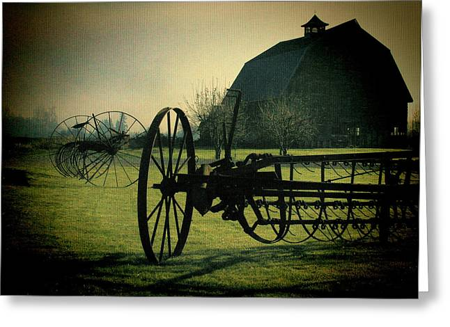 Back On The Farm Greeting Card by DMSprouse Art