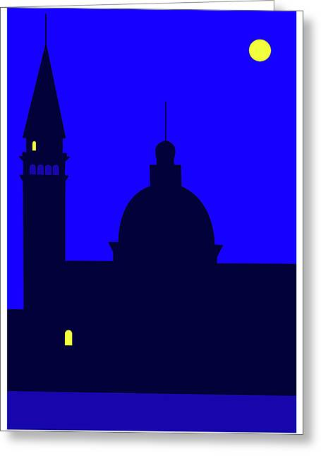 Back Piazza San Marco Venice Greeting Card by Asbjorn Lonvig