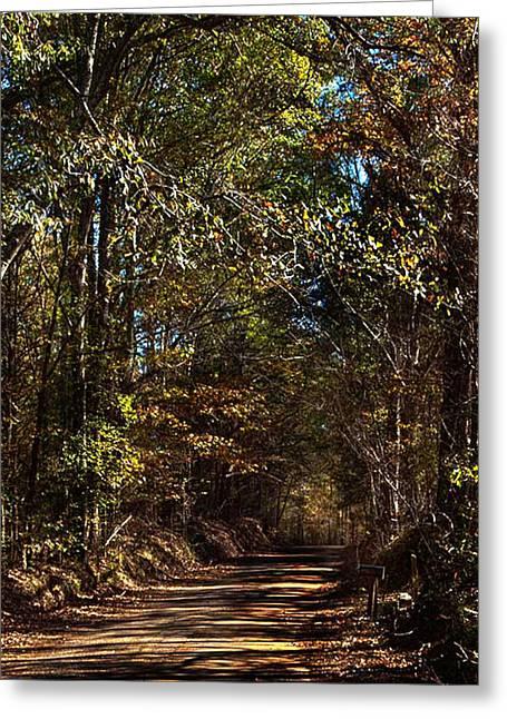 Back Road 6 Greeting Card by Thomas Warner