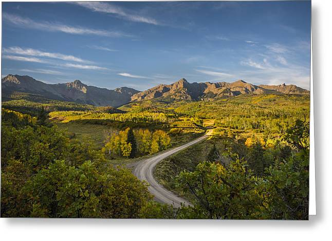 Back Road In Colorado Greeting Card