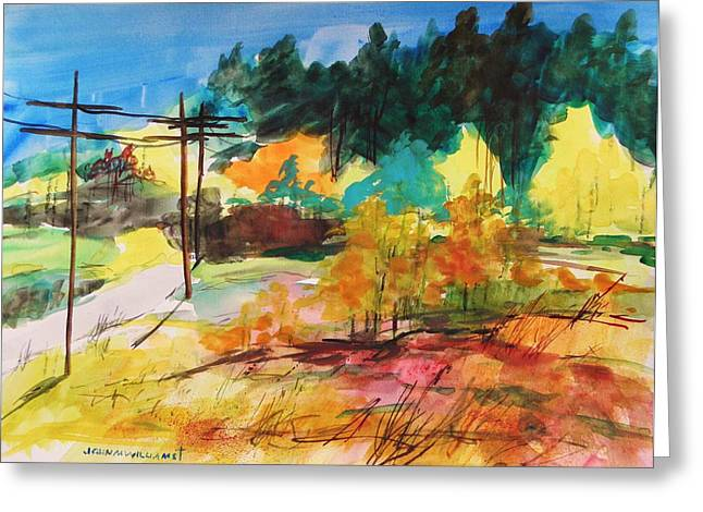 Back Road Greeting Card by John Williams