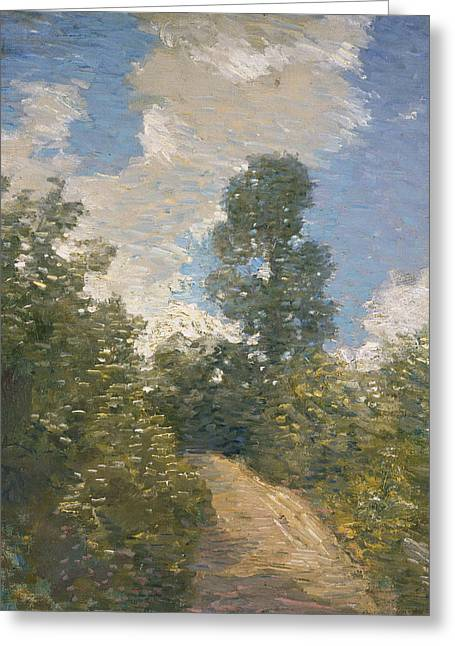 Back Road  Greeting Card by Julian Alden Weir