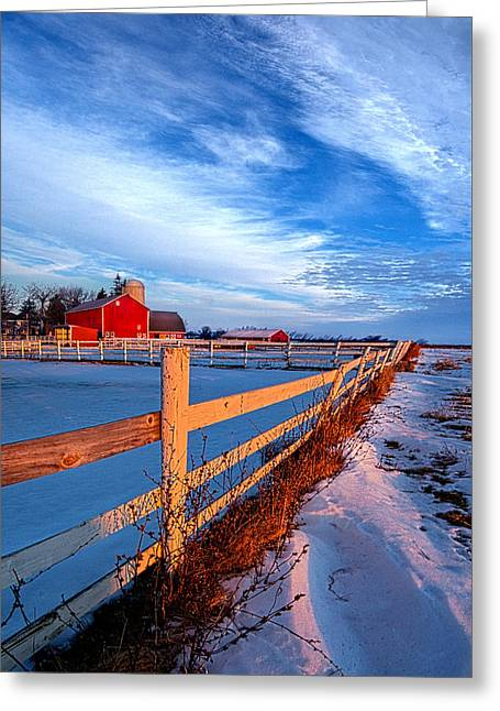Back Road Life Greeting Card by Phil Koch