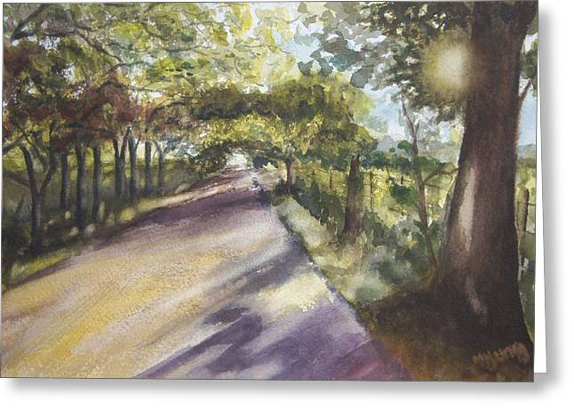 Back Road To Home Greeting Card