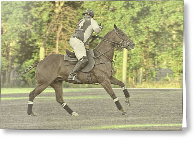 Greeting Card featuring the photograph Back Shot by Dressage Design