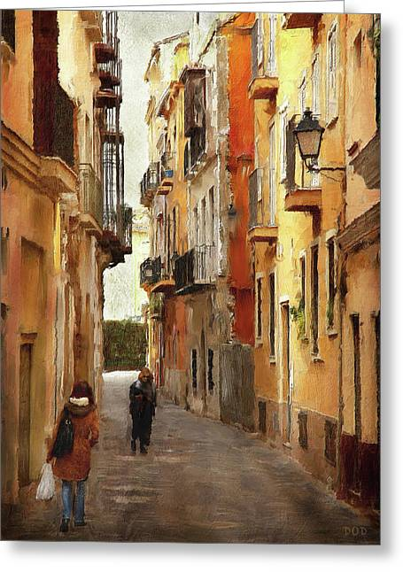 Back Streets Of Spain Greeting Card by Declan O'Doherty