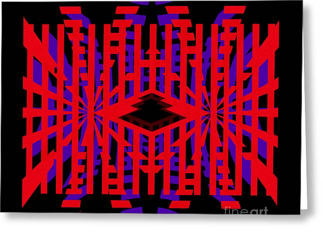 Back To The Future - Abstract By Kaye Menner Greeting Card by Kaye Menner