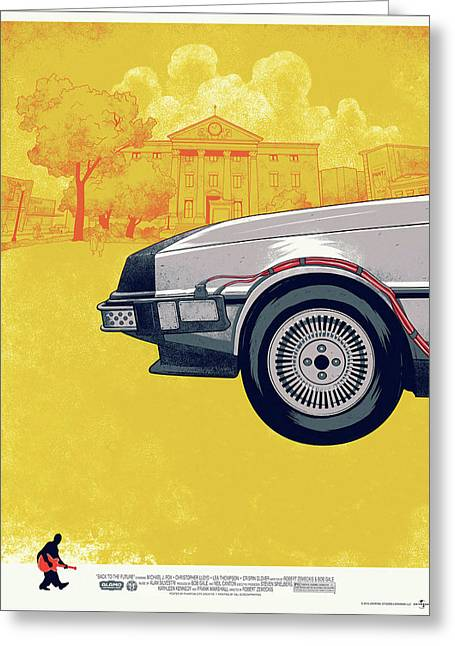 Back To The Future Delorean Part 1 Greeting Card