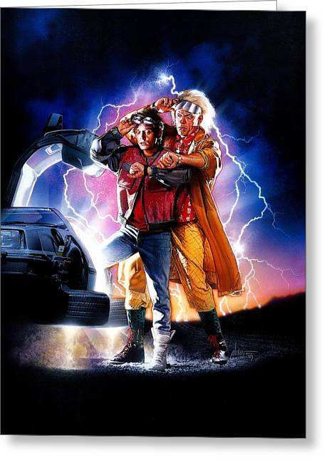 Back To The Future Part II 1989 Greeting Card by Unknown