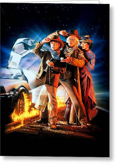 Back To The Future Part IIi 1990 Greeting Card by Caio Caldas