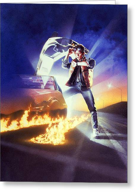 Back To The Future Greeting Card by Unknown