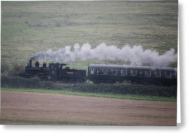 Back To The Steam Days Greeting Card