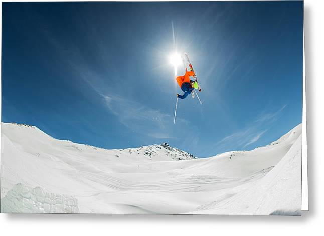 Backcountry Kicker Locals Only Greeting Card by Eric Verbiest