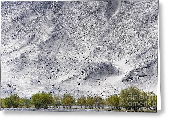 Backdrop Of Sand, Chumathang, 2006 Greeting Card
