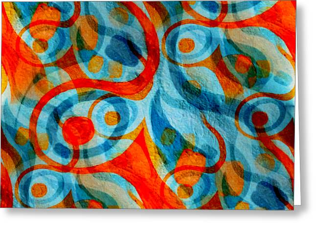 Background Choice Coffee Time Abstract Greeting Card by Barbara Moignard
