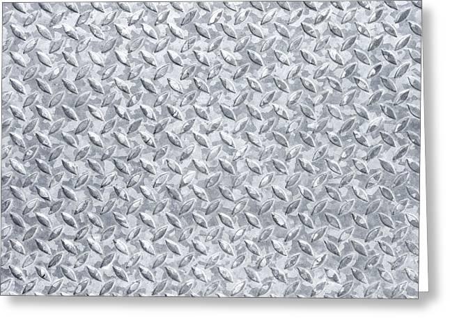 Background Of Metal Floor Greeting Card by Germano Poli