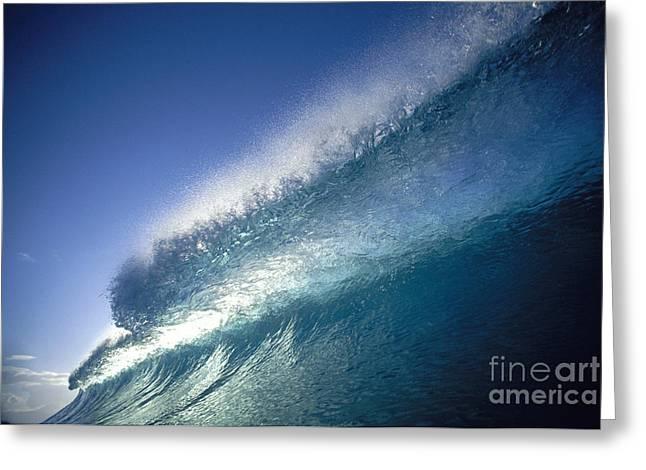 Backlit Translucent Wave Greeting Card