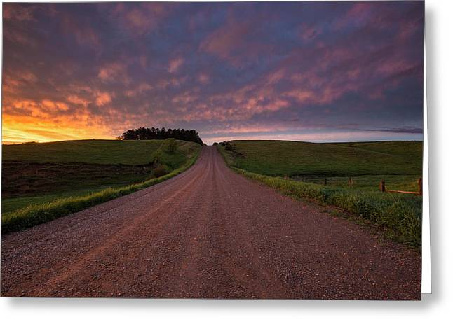 Backroad To Heaven  Greeting Card by Aaron J Groen