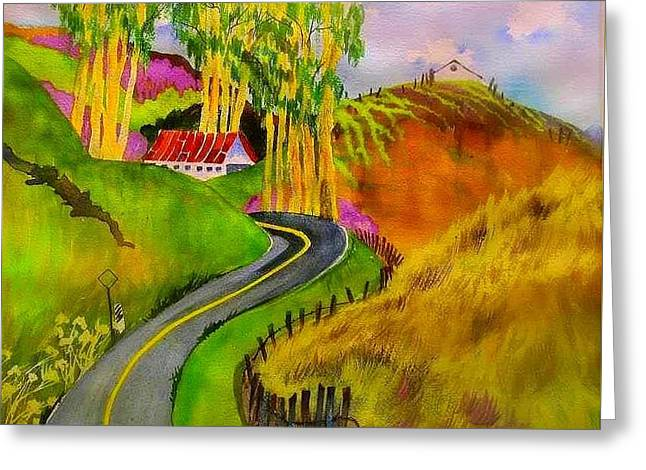Backroads Sonoma County  Greeting Card