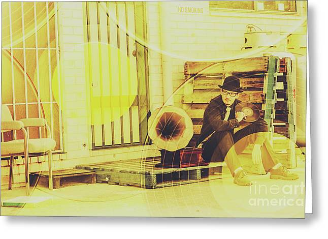 Backstreet Tunes Greeting Card by Jorgo Photography - Wall Art Gallery