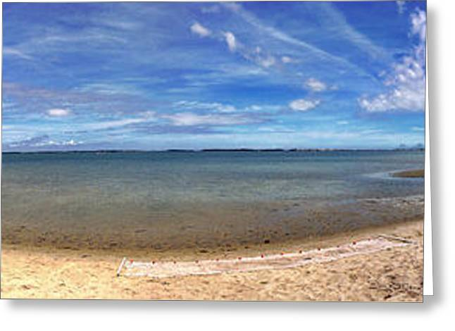 Greeting Card featuring the photograph Backwater Bay Pano by T Brian Jones