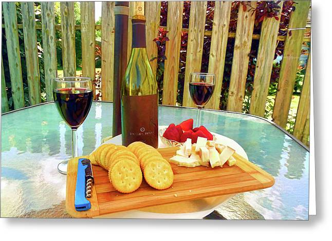 Backyard Picnic For Two Greeting Card