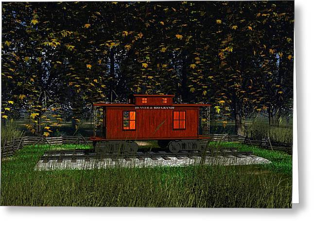 Backyard Playhouse Greeting Card by Michael Wimer
