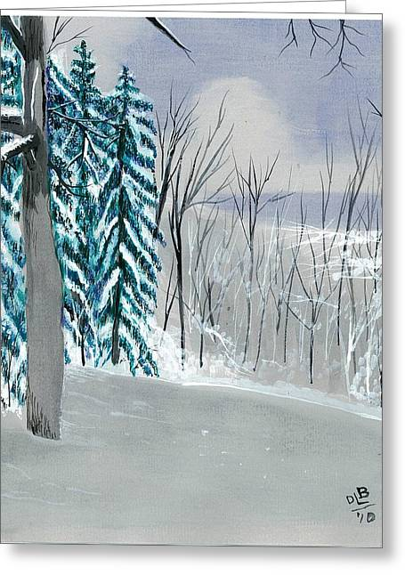 Backyard Snow Greeting Card